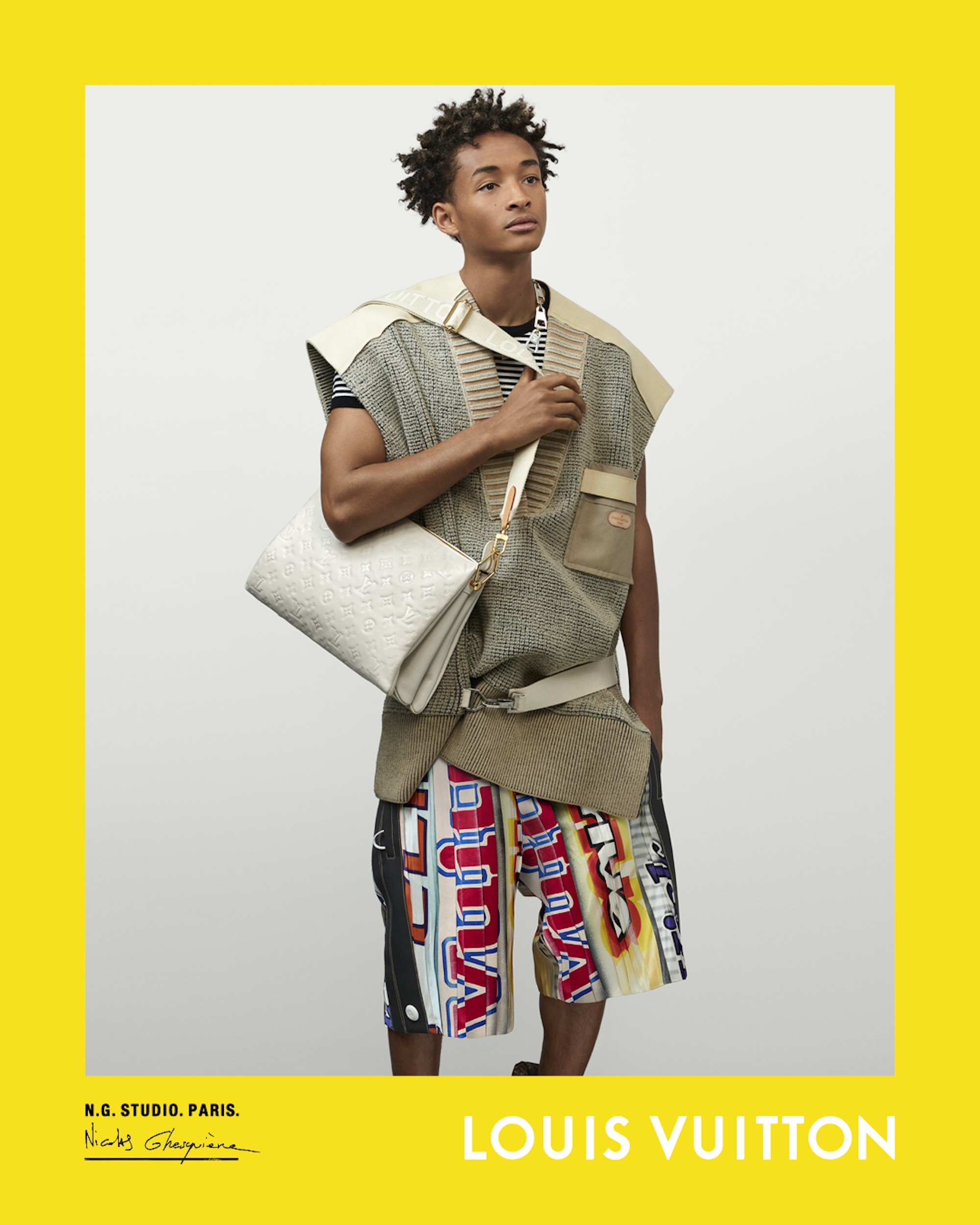 Louis Vuitton Spring Summer 2021 campaign, Nicolas Ghesquière, creative director, photographer, actor rapper Jaden Smith