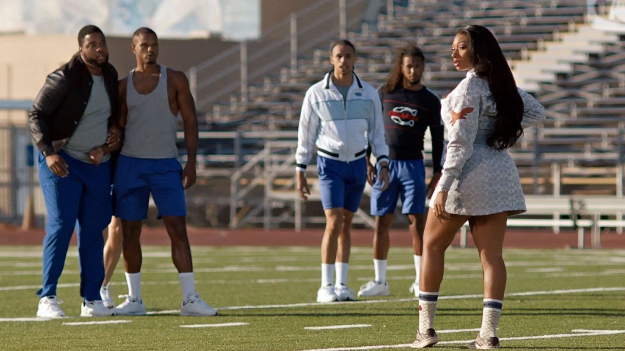 Megan Thee Stallion Coach AW21 campaign on sports field