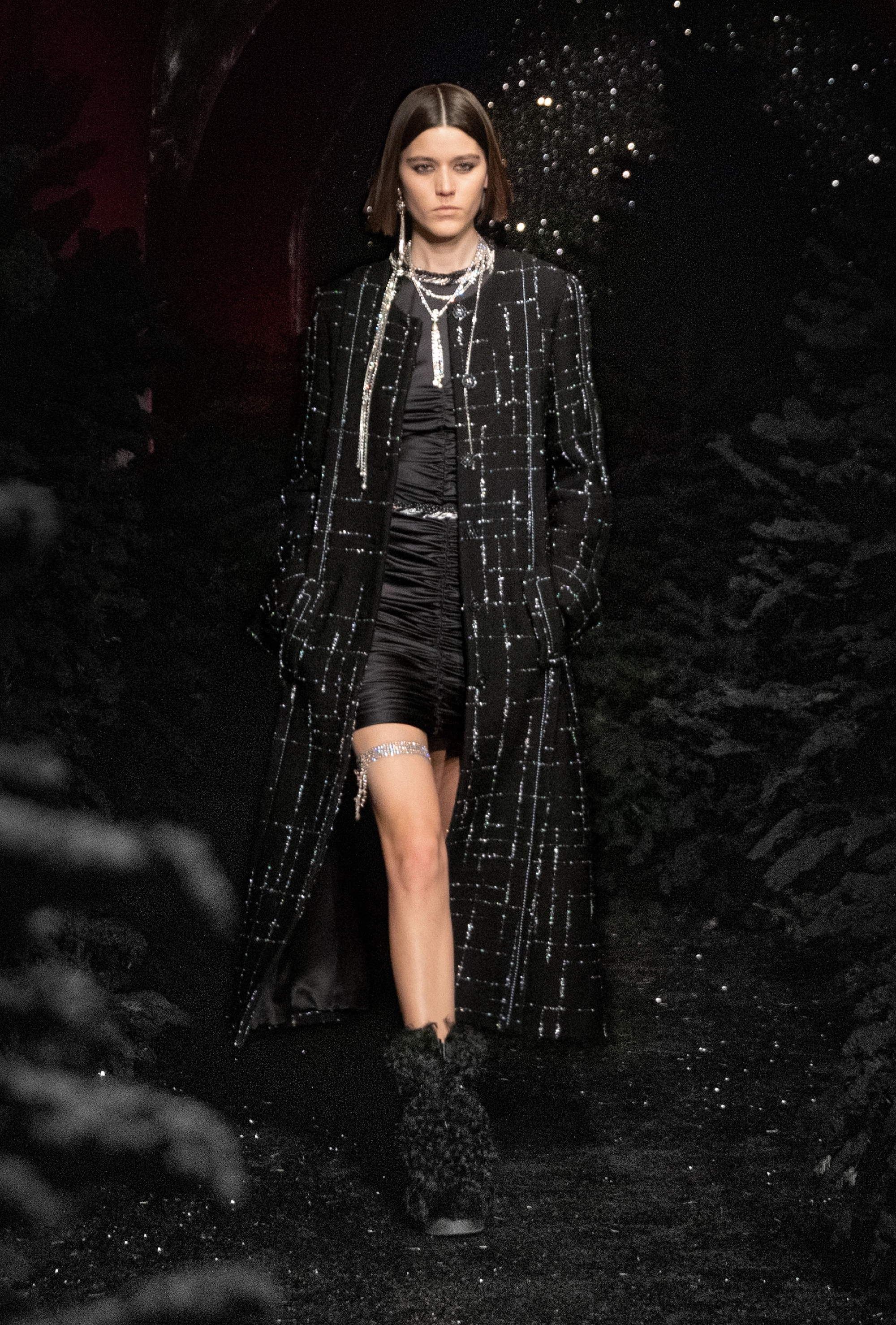Chanel AW21 long black coat