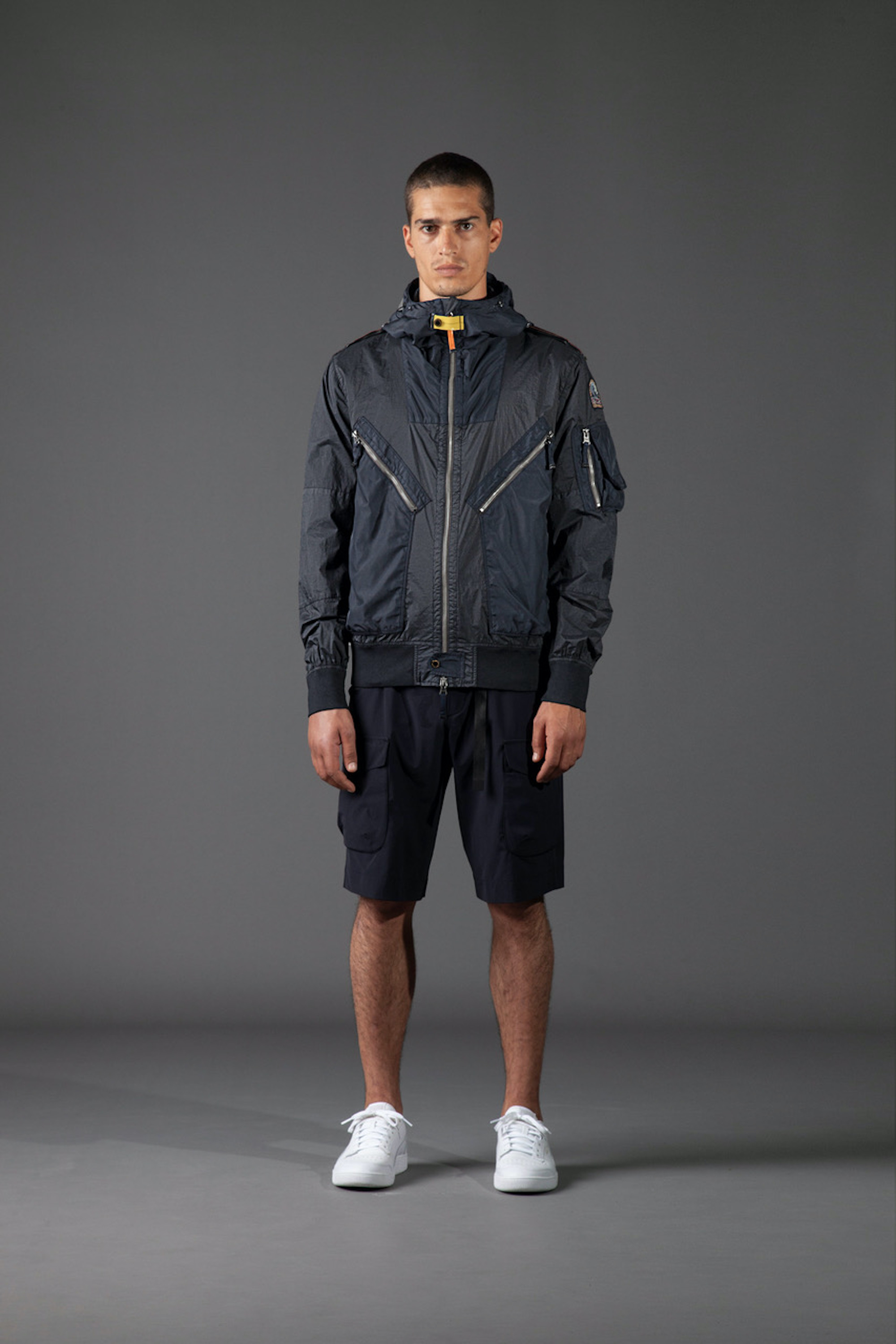 Parajumpers SS21 blue two toned jackets and black shorts