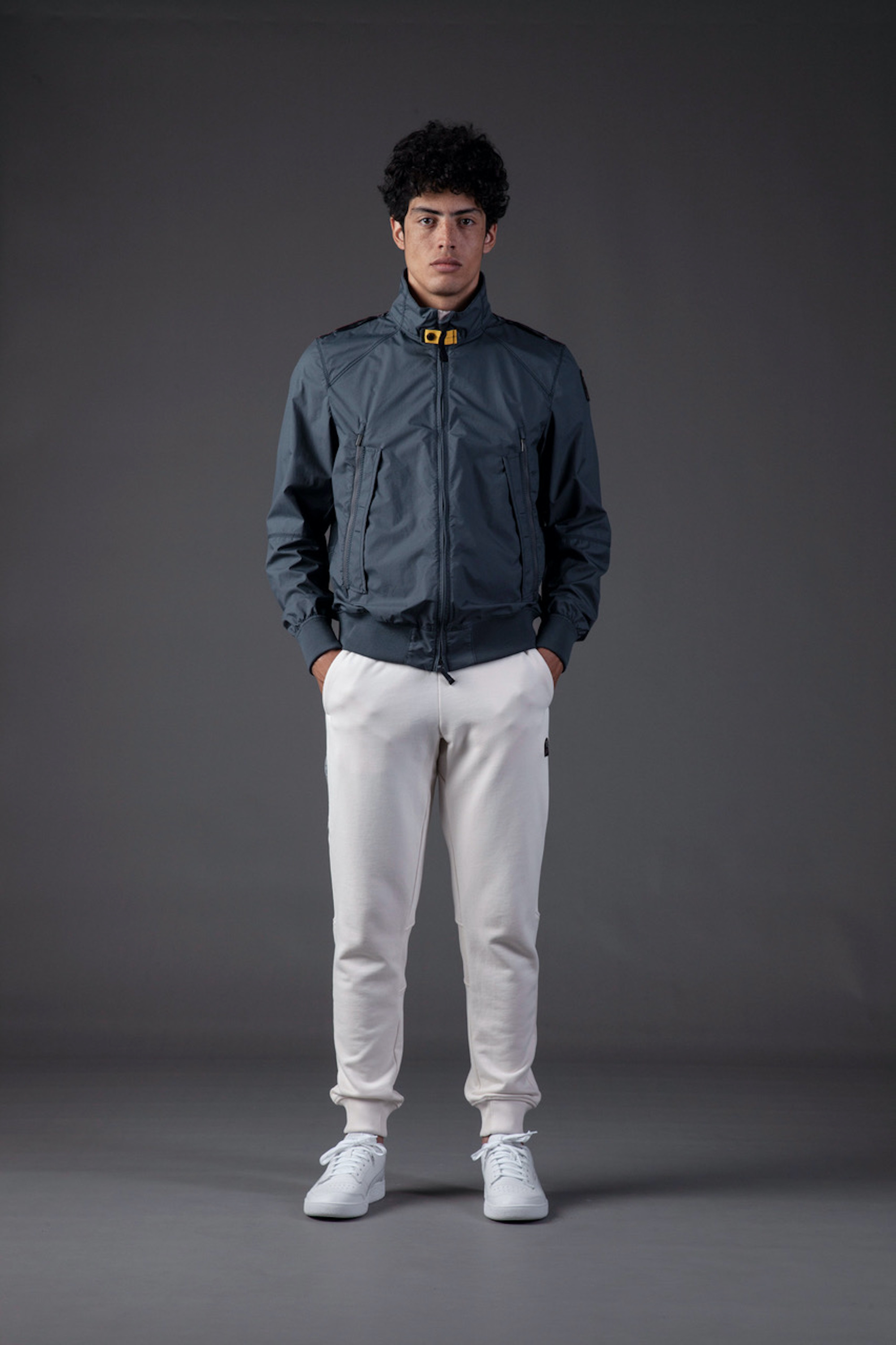 Parajumpers SS21 blue jacket and white trousers