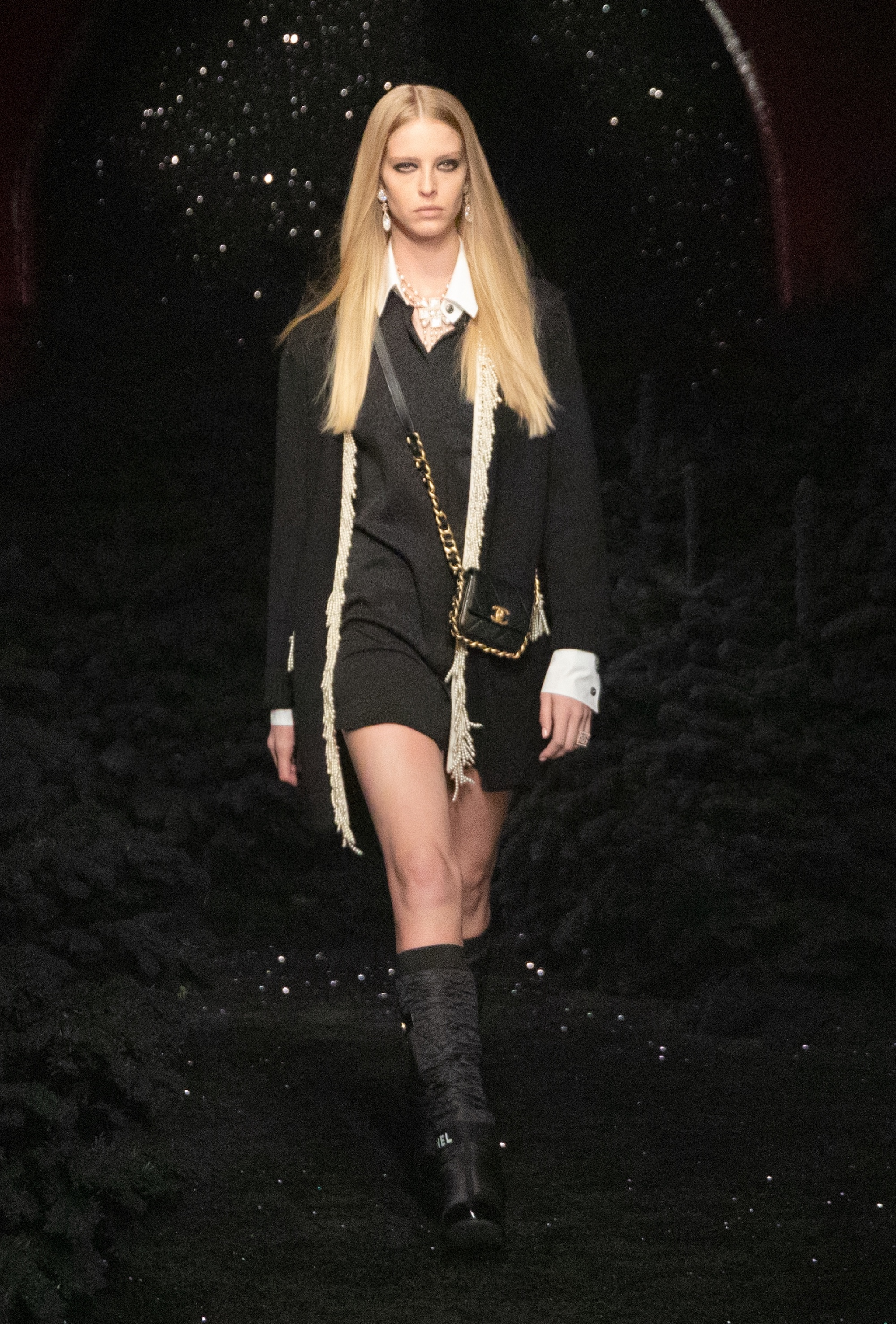 Chanel AW21 long black jacket and dress