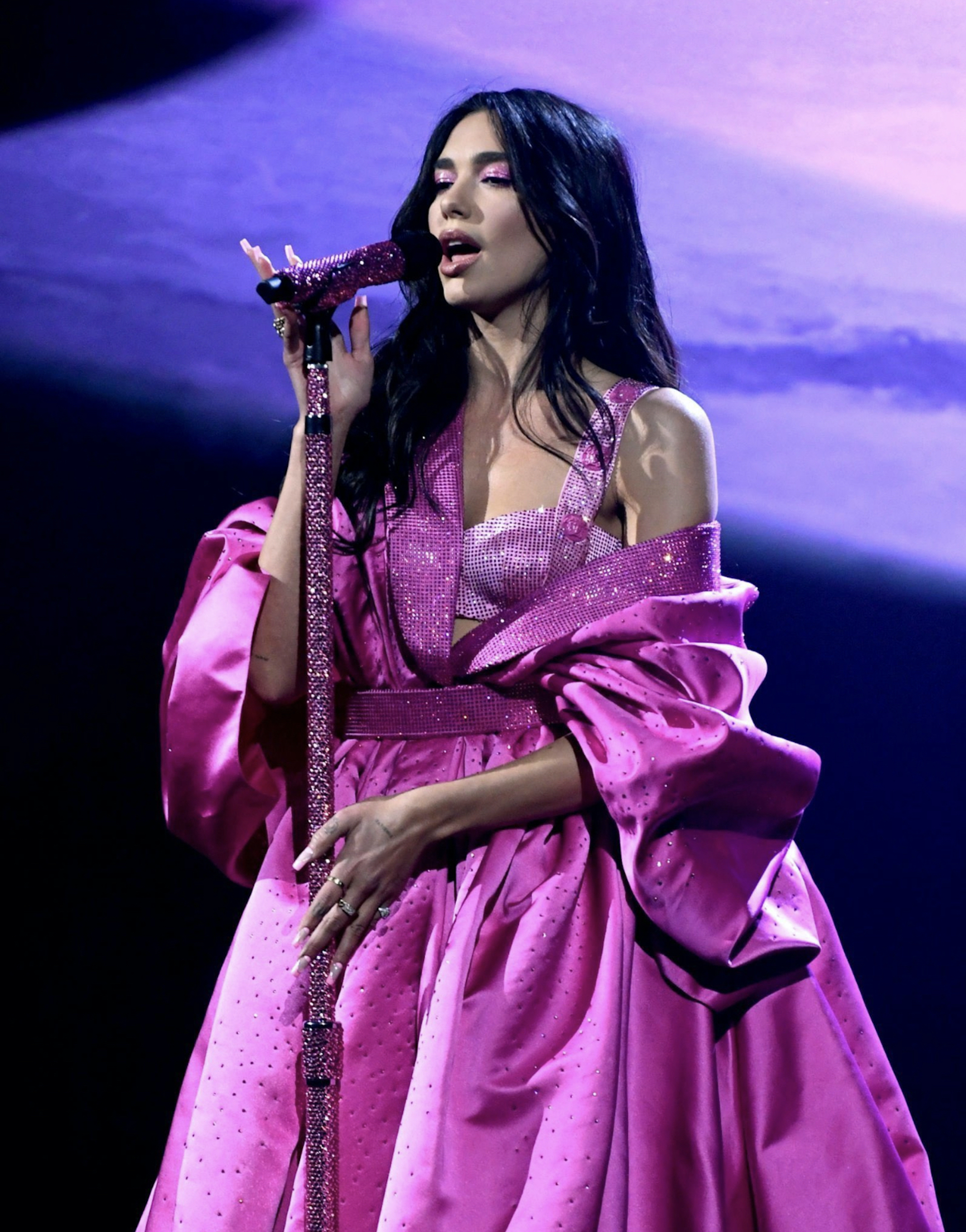 Dua Lipa performing at the Grammys 2021