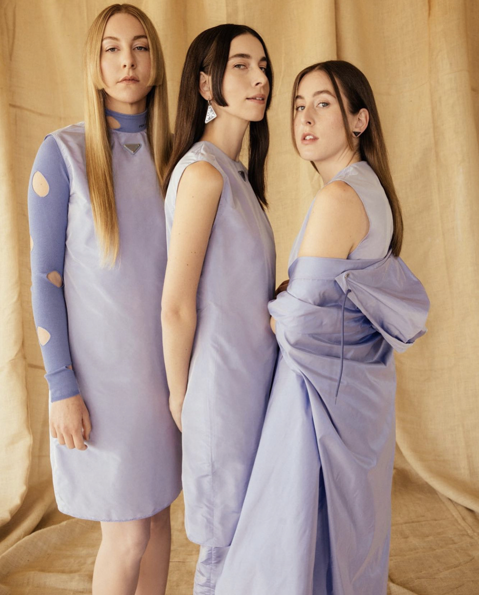 Haim wore custom Prada at the Grammys 2021