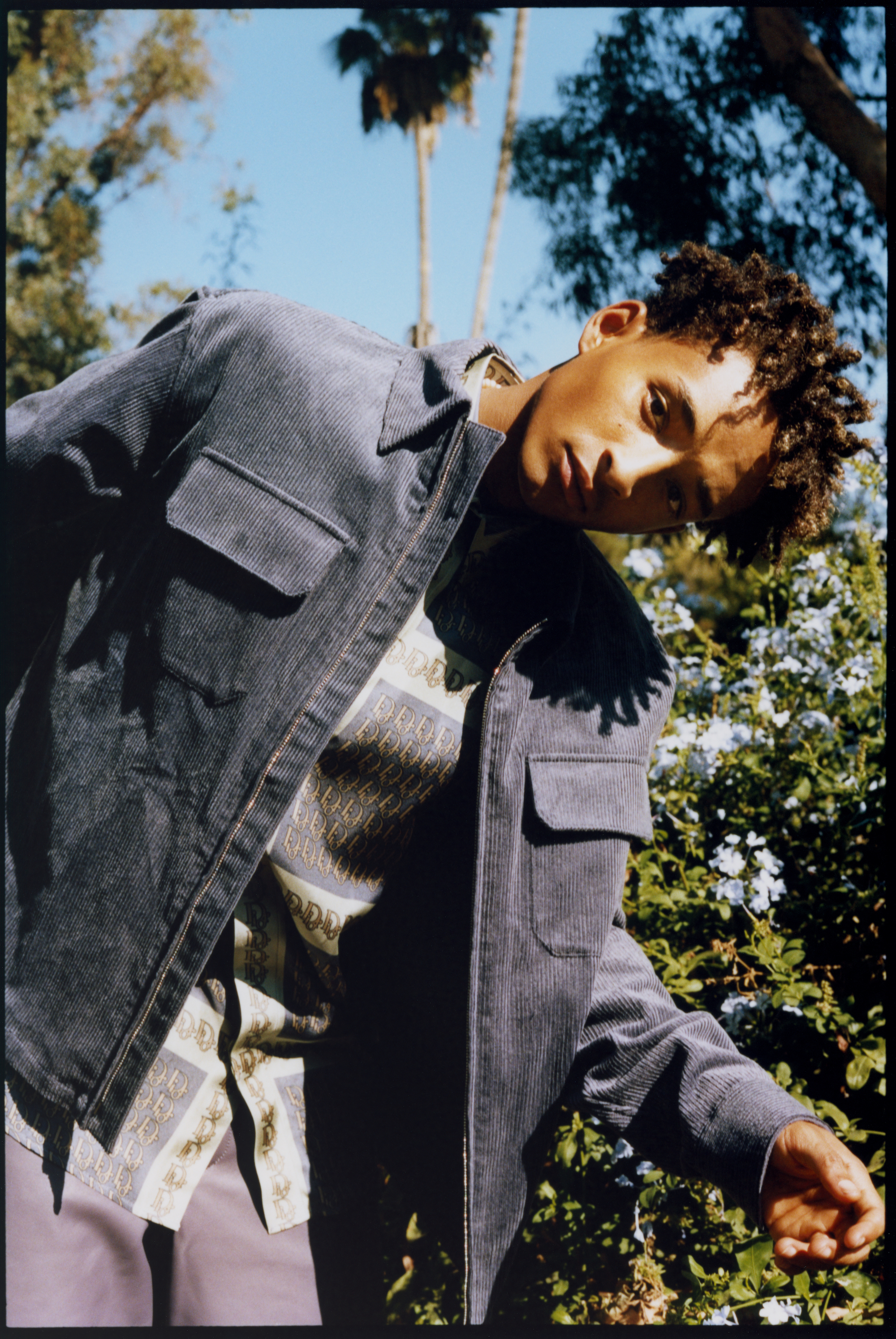Jaden Smith wearing denim jacket