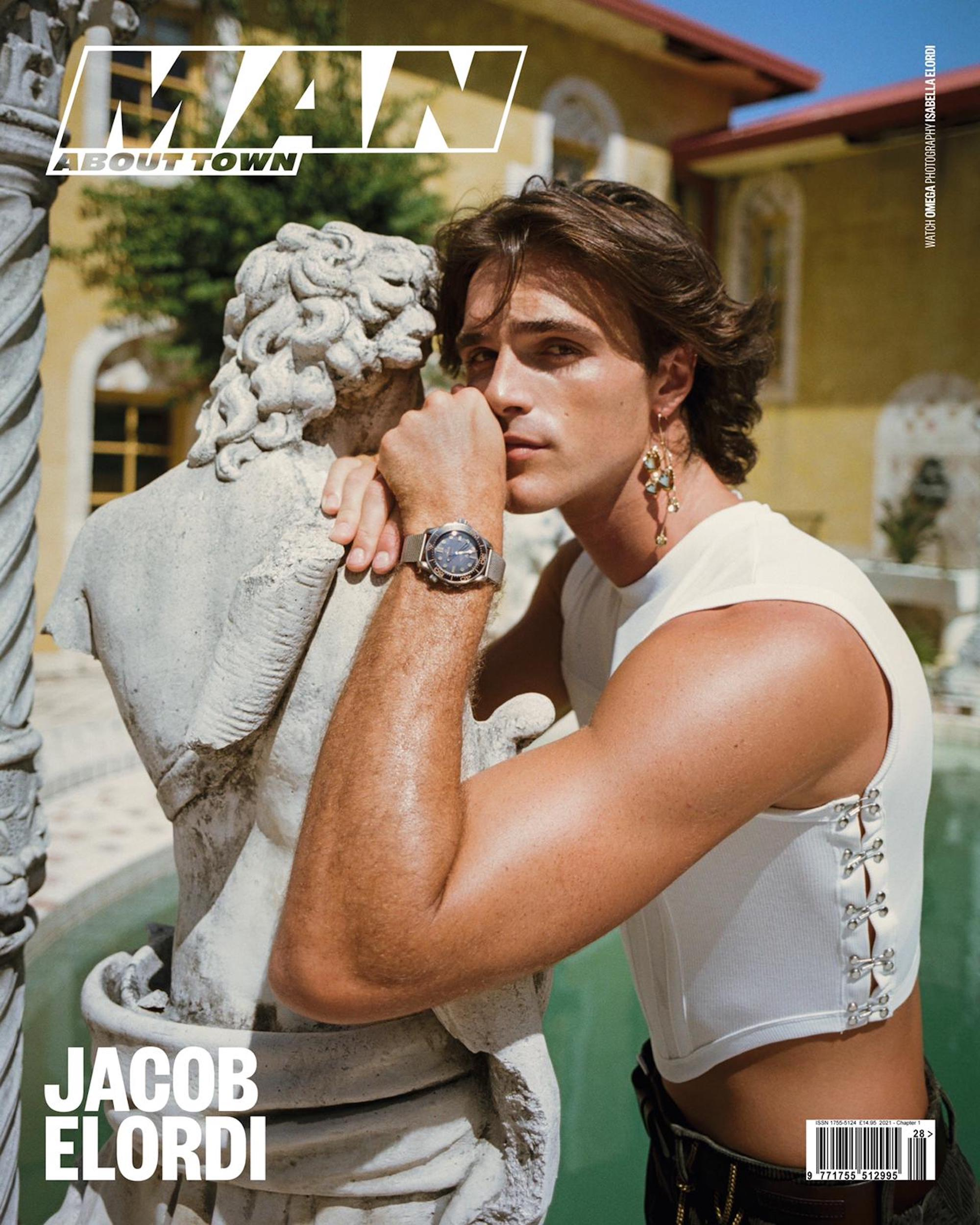 Jacob Elordi on the cover of Man About Town