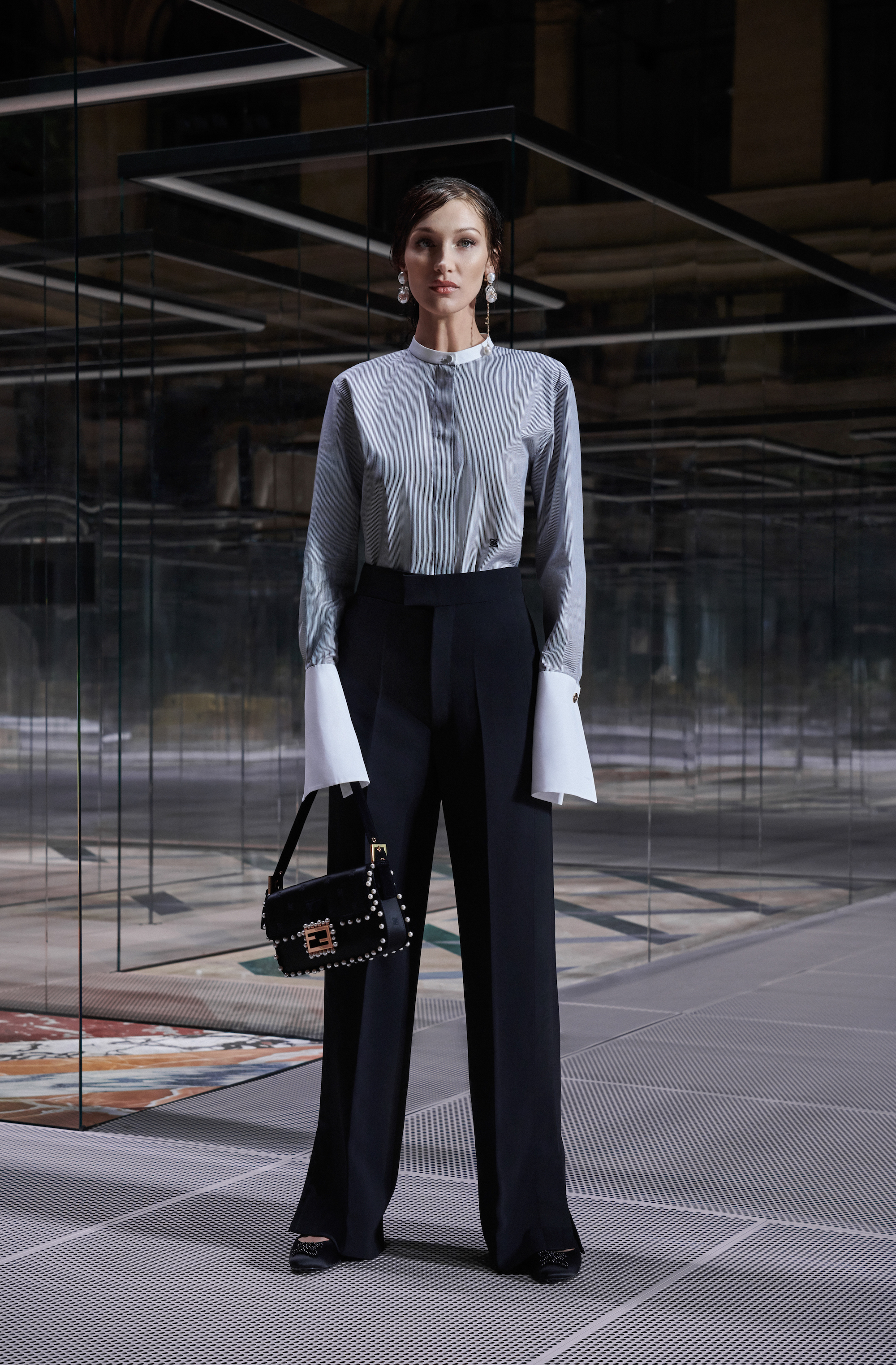 Fendi limited edition capsule collection Bella Hadid shirt