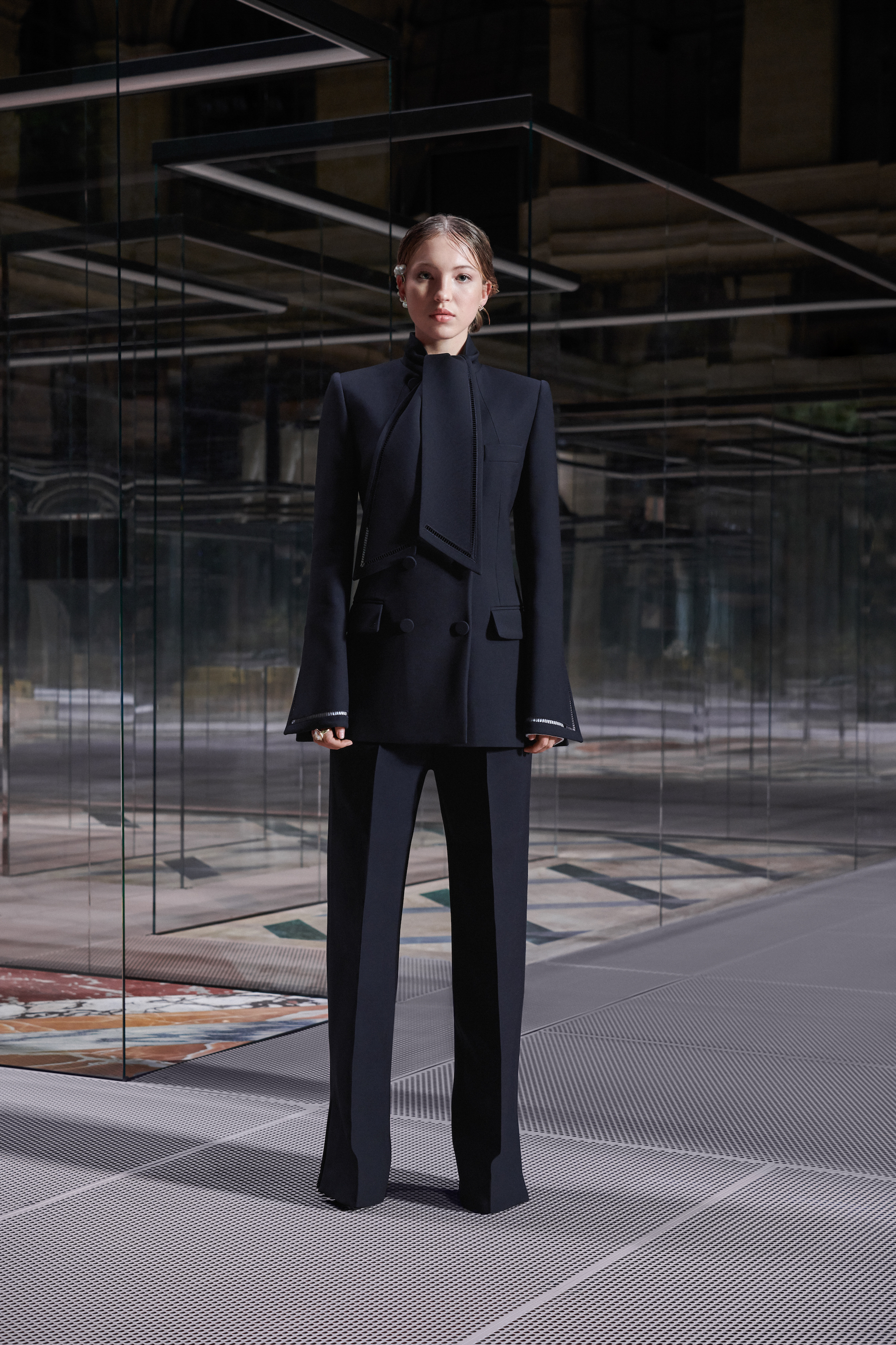 Fendi limited edition capsule collection Lila Grace Moss black suit