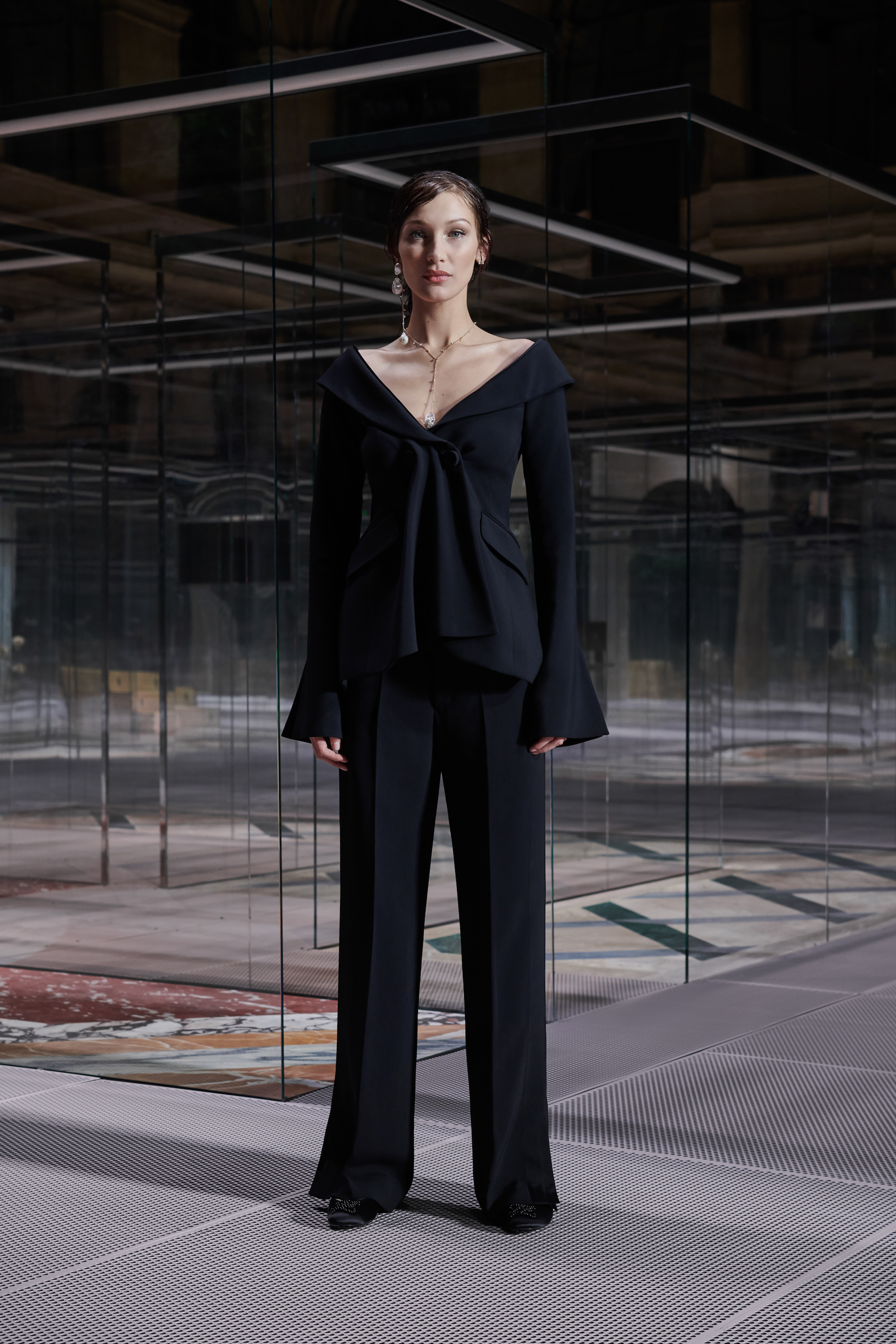 Fendi limited edition capsule collection Bella Hadid black two piece