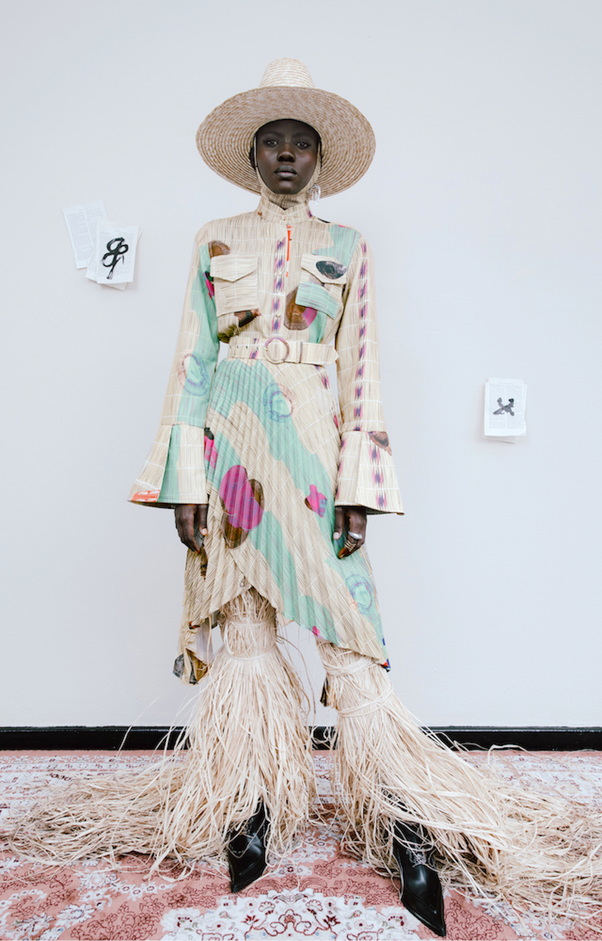 Thebe Magugu designers to watch 2021 pleated coat