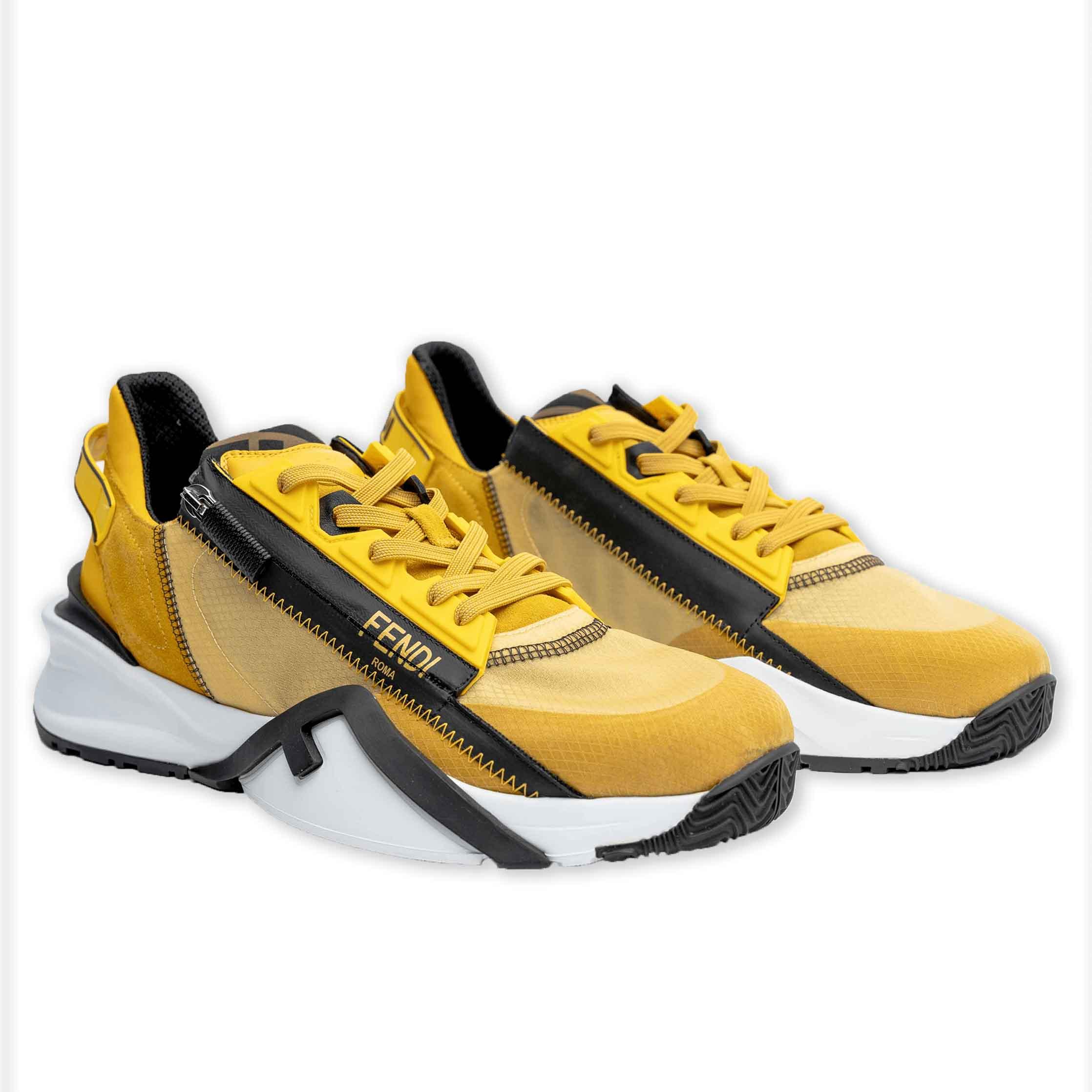 Fendi flow yellow Kicks